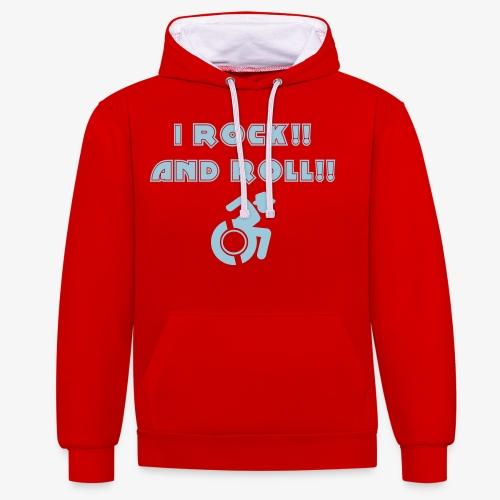 Ik rock en rol in mijn rolstoel - Contrast hoodie