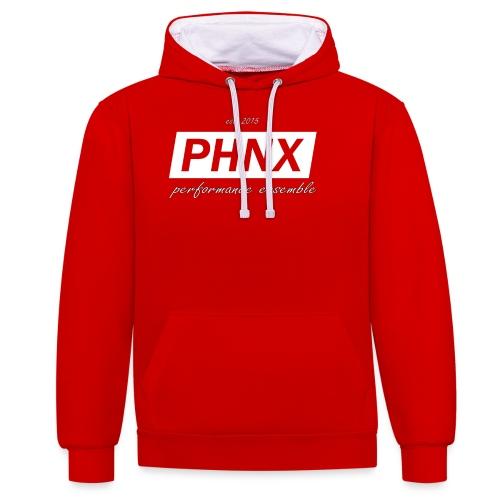 PHNX /#white/ - Kontrast-Hoodie
