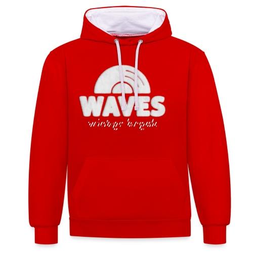 WAVES - Winter break - Felpa con cappuccio bicromatica