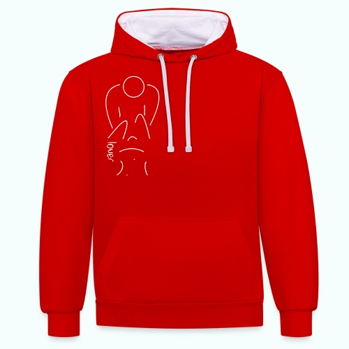 lover - Contrast Colour Hoodie