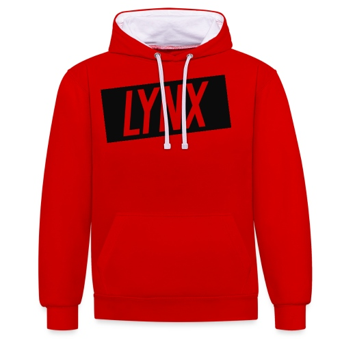 LynxShirtLogo - Contrast Colour Hoodie