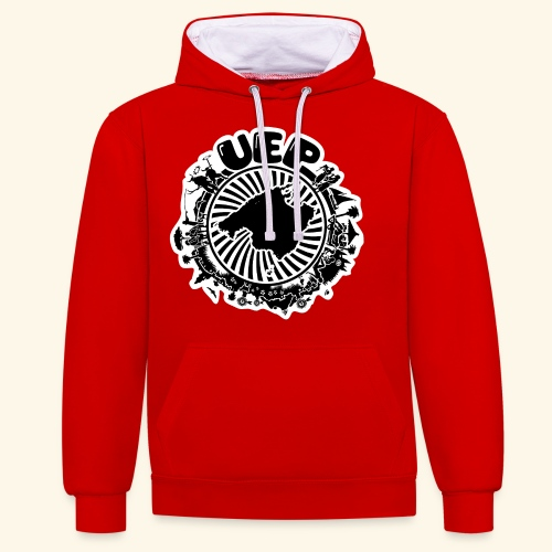 UEP white background - Contrast Colour Hoodie