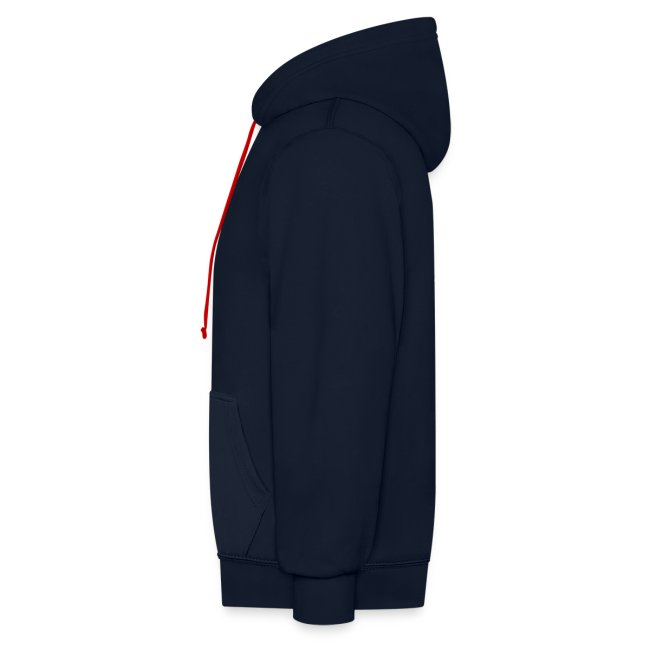 Vorschau: cat zipper pocket - Kontrast-Hoodie