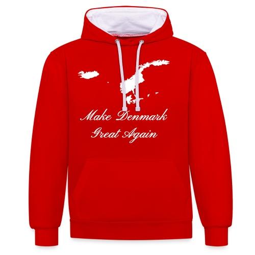 Make Denmark Great Again - Kontrast-hættetrøje