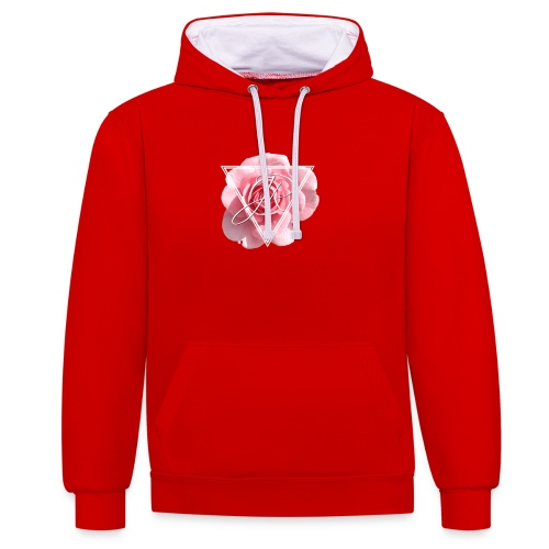 Rose Logo - Contrast Colour Hoodie