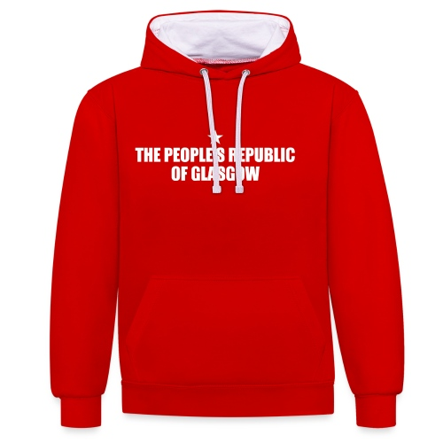 People's Republic Glasgow - Contrast Colour Hoodie