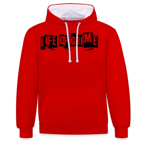 life of grime 1 png - Contrast Colour Hoodie