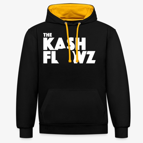 The Kash Flowz Official Logo White - Sweat-shirt contraste