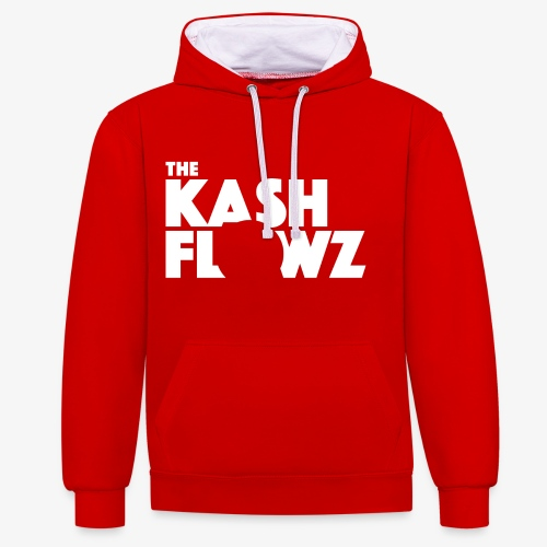 The Kash Flowz Official Logo White - Sweat-shirt contraste