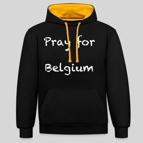 Pray for Belgium - Sweat-shirt contraste