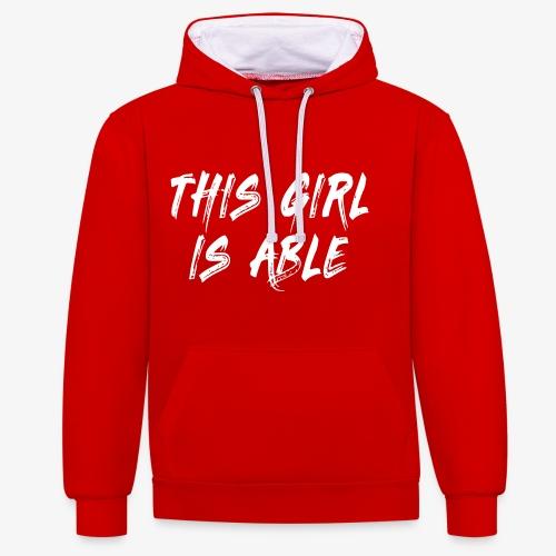 > Dit meisje is in staat, rolstoel, handicap 001 - Contrast hoodie