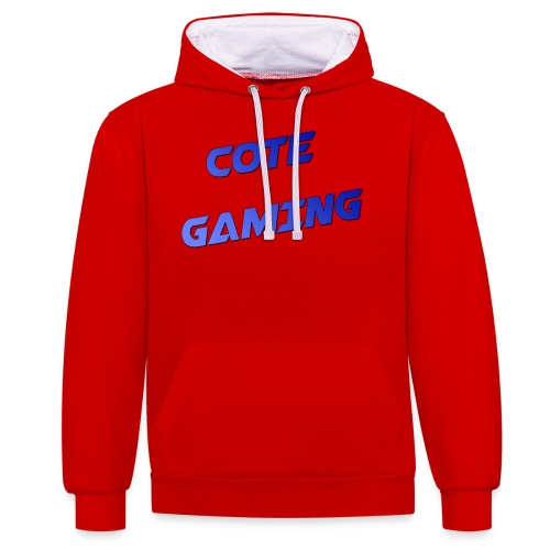 cote gaming Blauw png - Contrast Colour Hoodie