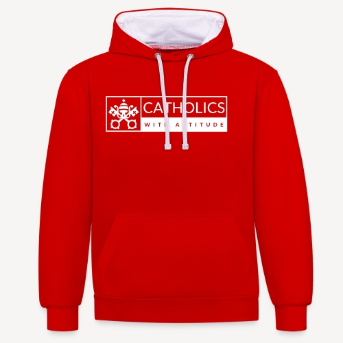 CATHOLICS WITH ATTITUDE - Contrast Colour Hoodie