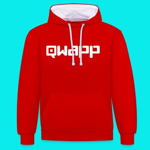 Qwapp Signet Dunkelblau - Kontrast-Hoodie