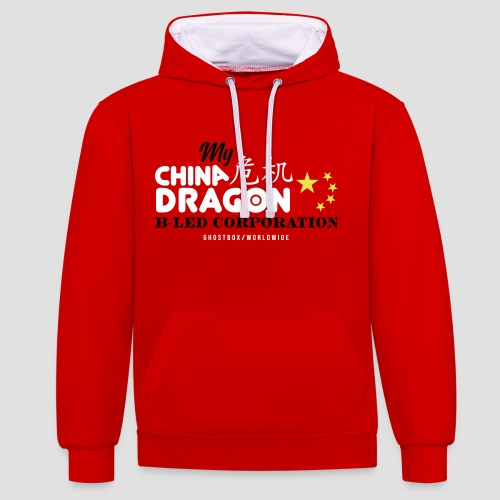 China Dragon B-LED Corporation Ghostbox Hörspiel - Kontrast-Hoodie