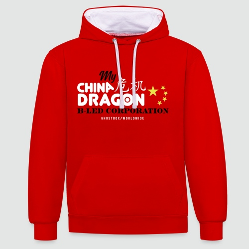 China Dragon B-LED Corporation Ghostbox Hörspiel - Kontrast-Hoodie