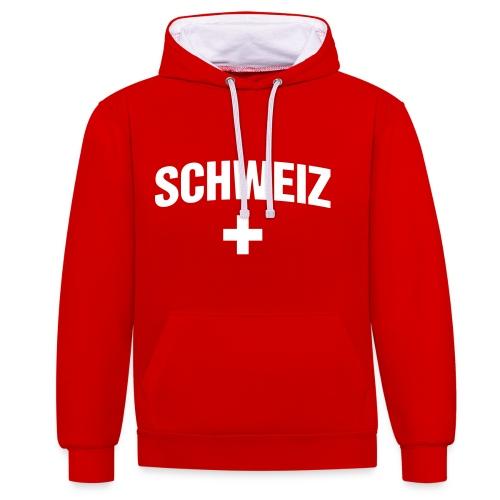 Schweiz - Suisse - Switzerland - Swiss - Kontrast-Hoodie