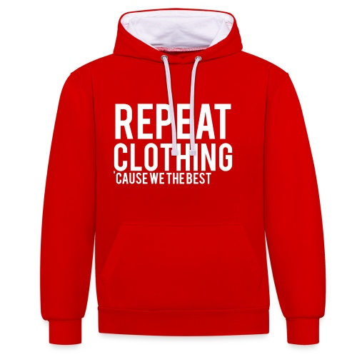 Repeat Clothing - Contrast Colour Hoodie