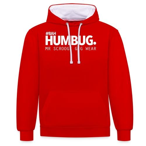 #BAH HUMBUG. - Kontrast-Hoodie