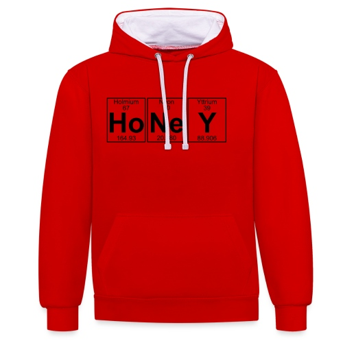 Ho-Ne-Y (honey) - Full - Contrast Colour Hoodie