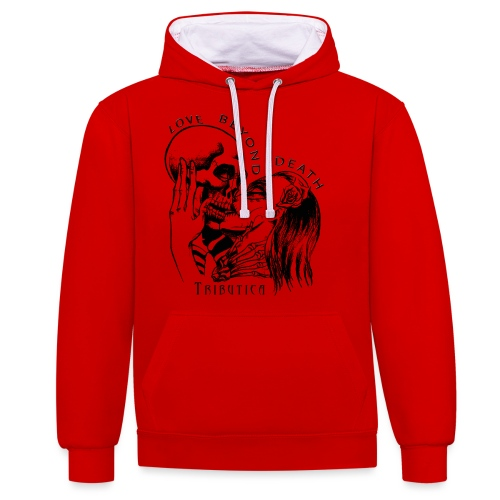 Love beyond Death Colourful - Kontrast-Hoodie