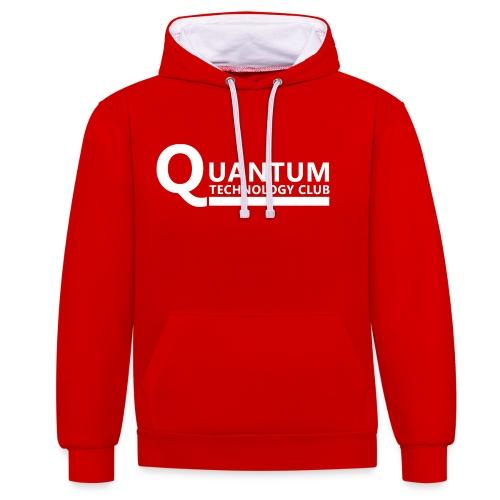 Quantum Tech logo (w) - Contrast Colour Hoodie