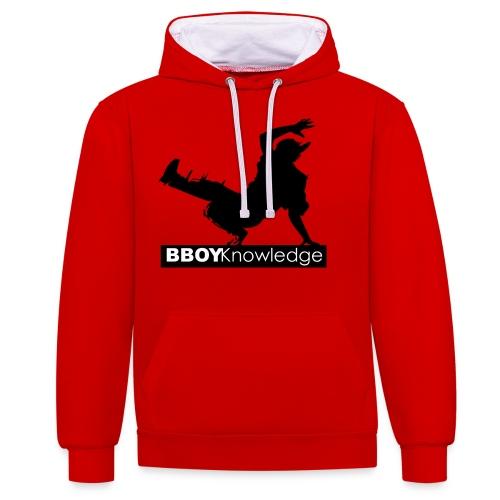 Bboy knowledge noir & blanc - Sweat-shirt contraste