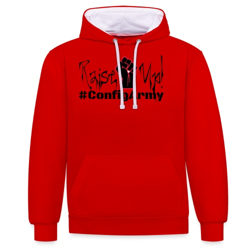#ConfigArmy Raise Up! - Contrast Colour Hoodie