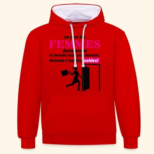 Un jour les femmes.. - Sweat-shirt contraste