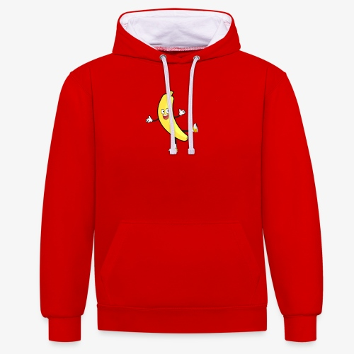 Banana - Contrast Colour Hoodie