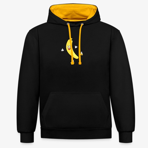 Banana - Contrast Colour Hoodie