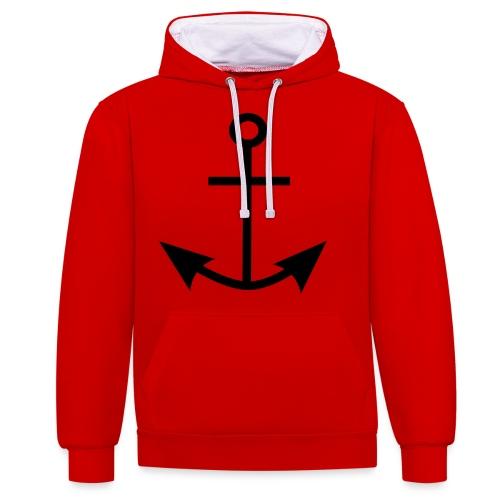 ANCHOR CLOTHES - Contrast Colour Hoodie