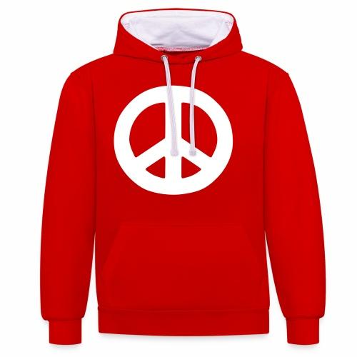 Peace - Contrast Colour Hoodie