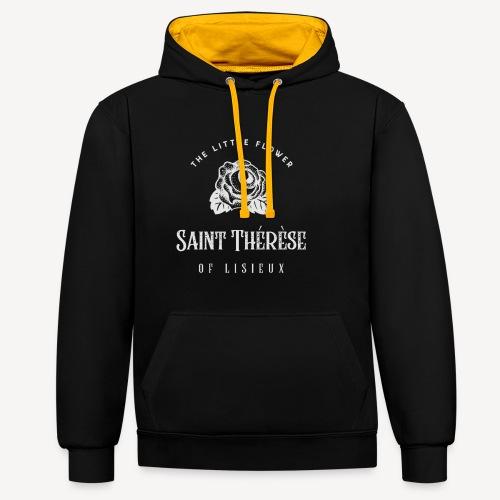 St Thérèse of Lisieux - Contrast Colour Hoodie