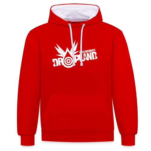 dropland wings white - Contrast Colour Hoodie