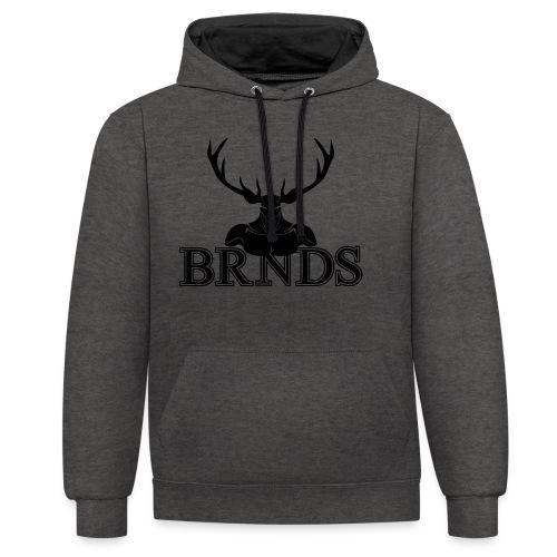 BRNDS - Felpa con cappuccio bicromatica
