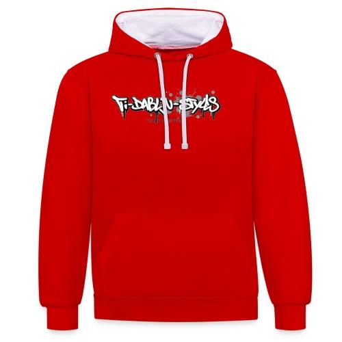 ti-dablju-styles_Logo - Kontrast-Hoodie