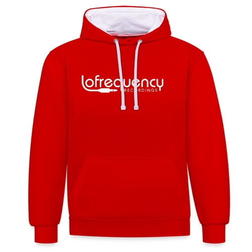 Lofrequency Recordings Classic White Logo - Contrast Colour Hoodie