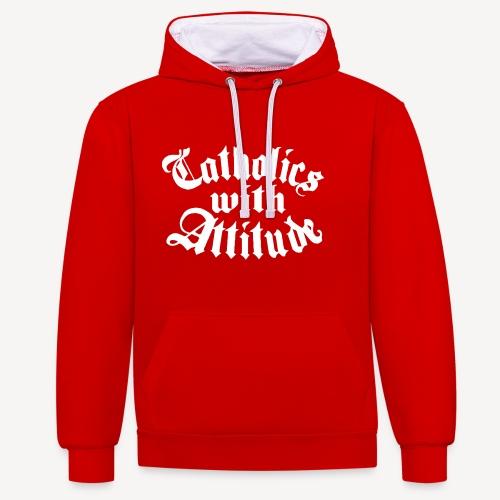 Catholics With Attitude - Contrast Colour Hoodie