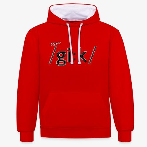 GEEK V2 - Contrast Colour Hoodie