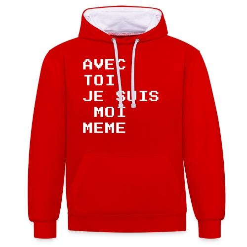avec toi je suis moi meme - Sweat-shirt contraste
