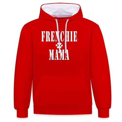 Frenchie Mama - Sweat-shirt contraste