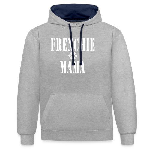 Frenchie Mama - Sweat-shirt contraste