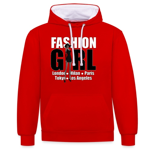 The Fashionable Woman - Fashion Girl - Contrast Colour Hoodie