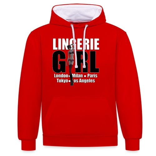 The Fashionable Woman - Lingerie Girl - Contrast Colour Hoodie