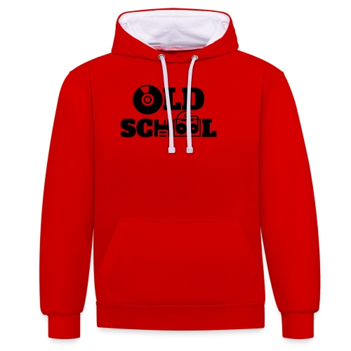 OLD SCHOOL - Contrast Colour Hoodie