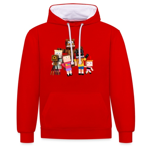 Withered Bonnie Productions - Meet The Gang - Contrast Colour Hoodie