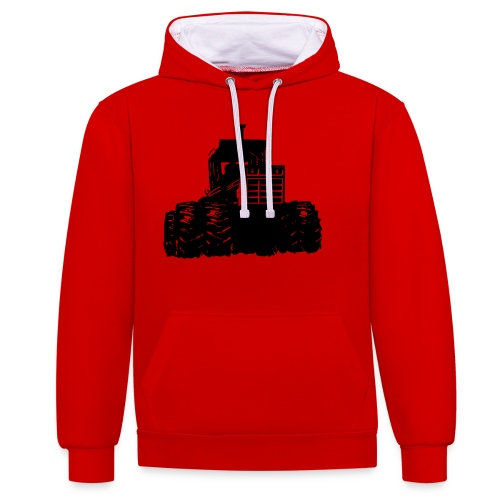 IH 4WD Tractor - Contrast Colour Hoodie