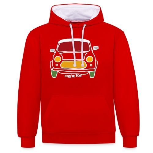 Voiture ancienne anglaise - Sweat-shirt contraste