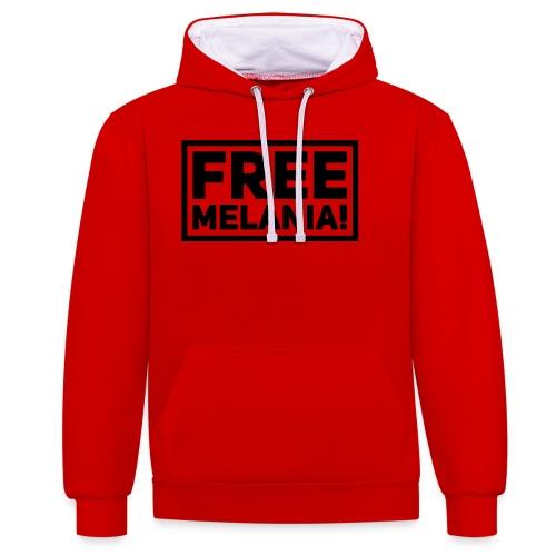 free melania! - Kontrast-Hoodie